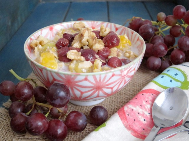 Mango & Roasted Grape Oatmeal - The Oatmeal Artist