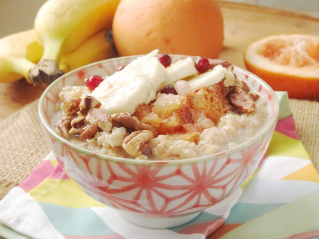 Broiled Grapefruit and Banana Oatmeal
