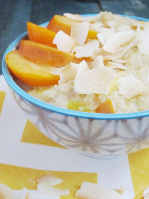 Mango Persimmon Oatmeal