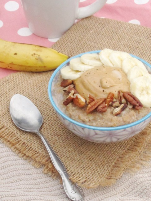 Spiced Banana Oatmeal with Java PB2 by The Oatmeal Artist #vegan