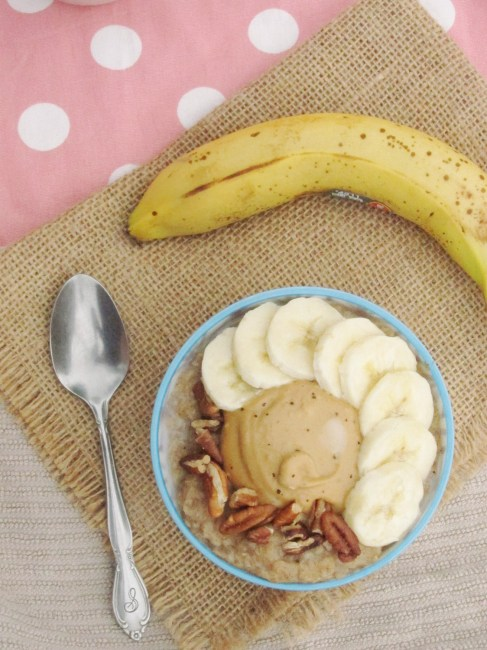 Spiced Banana Oatmeal with Java PB2 #oatmealartist