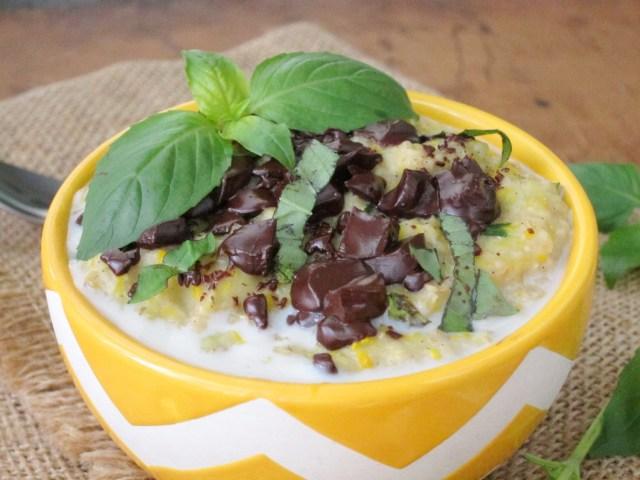 Basil Chocolate Zucchini Oatmeal