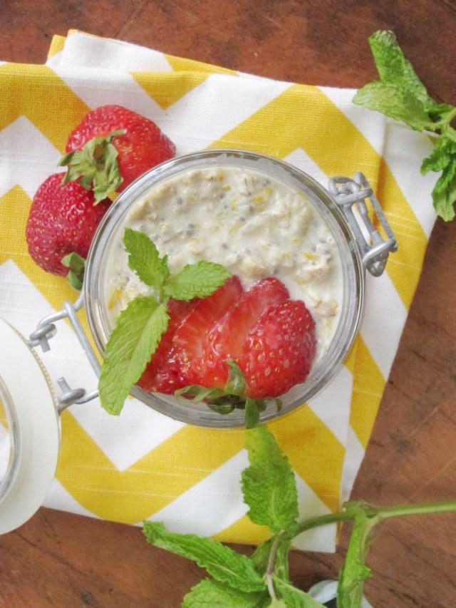 Mojito Overnight Oatmeal #oatmealartist #vegan
