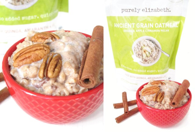Purely Elizabeth Apple Cinnamon Pecan Ancient Grains Oatmeal