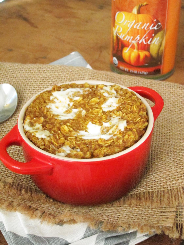 pumpkin cream cheese baked oatmeal the oatmeal artist