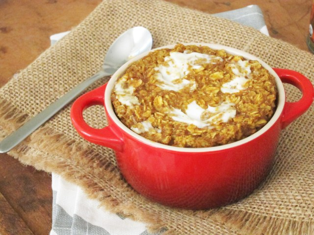 Pumpkin Cream Cheese Baked Oatmeal #oatmealartist #vegan