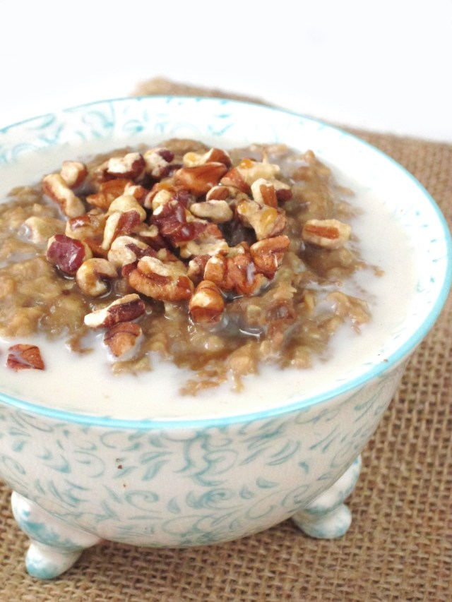 Chestnut Maple Latte Oatmeal by the Oatmeal Artist #vegan