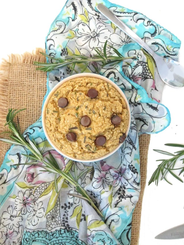 Rosemary Chocolate Chip Baked Oatmeal #vegan