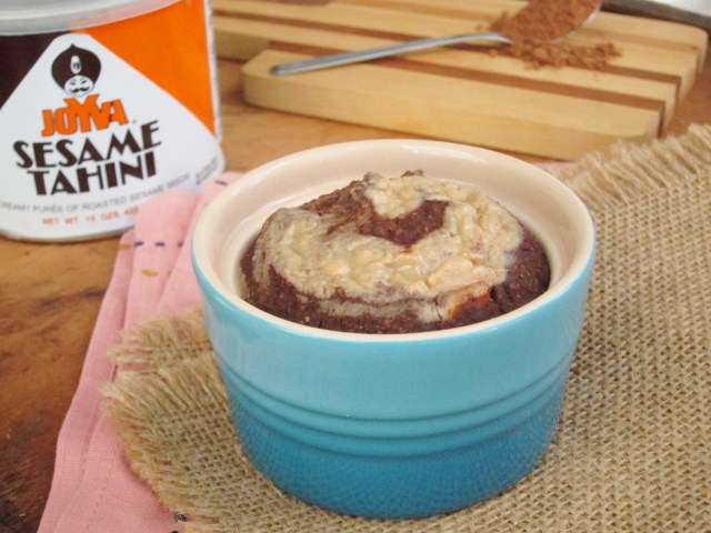 Tahini Swirl Brownie Baked Oatmeal by the #OatmealArtist