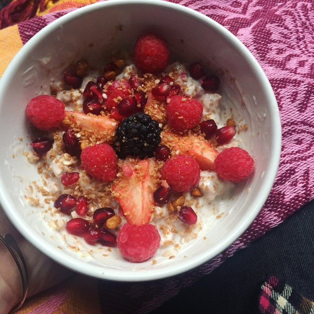 Tuesday - granola and yoghurt
