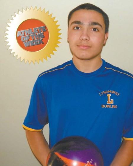 by Jim HagueLyndhurst sophomore bowler Jordan Lopez.