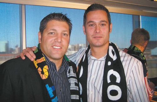 Photo by Jim HagueKearny native Tony Meola (left) has been rumored to be a possible choice as an assistant coach for new Red Bulls head coach and former team All-Star Mike Petke (right). Petke was given the position as head coach last Thursday.