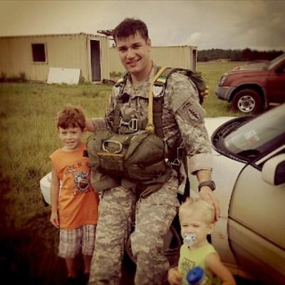 Photos courtesy Osborn familyMatthew Osborn (top) and Robert Osborn with sons Jake (red hair) and Ryan.