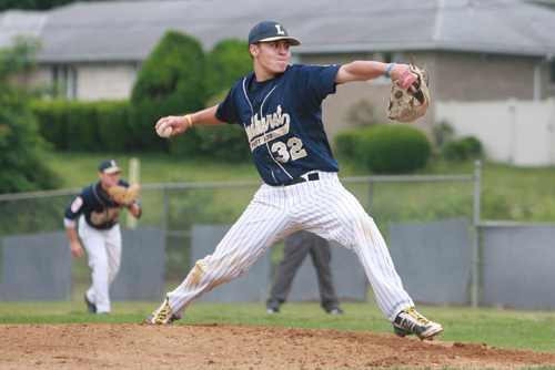 Photo courtesy Gina Lazorczyk Lyndhurst native Willie Krajnik, soon-to-be a senior at St. Mary's of Rutherford, is a key member of the Lyndhurst Post 139 American Legion baseball team as they begin action in the District 1 playoffs.