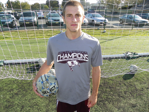 Photo by Jim Hague Senior center midfielder Nate Peraino is the main cog to the Nutley boys' soccer team's offensive attack.