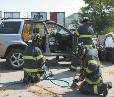 Photos courtesy Harrison Fire Department They power up equipment.