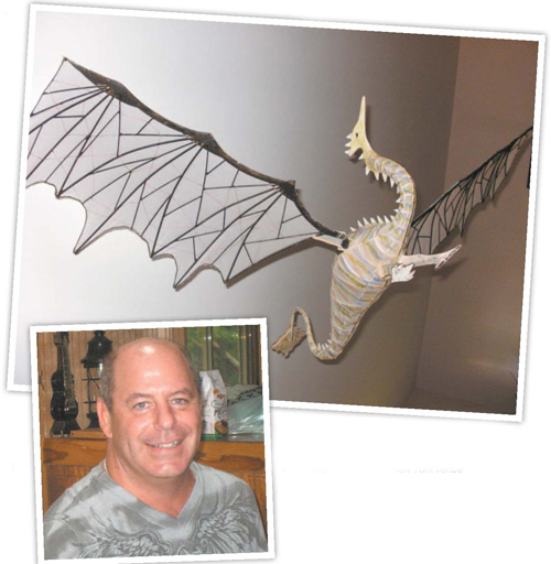 Photos courtesy of Phillip Talone KHS teacher Phillip Talone's imaginative art work will be displayed at New York venue
