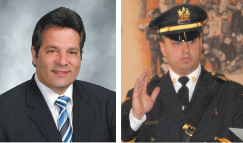 Left photo courtesy Nutley municipal website; right photo courtesy Gina Mendola Longorzo law firm Mayor Alphonse Petracco (l.) and Capt. Tom Strumolo.