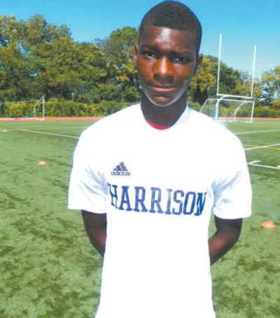 Photo by Jim Hague Senior defender Modou Sowe, one of the best players in the state, missed the state sectional title game won by Harrison and his status for the rest of the season is unknown.