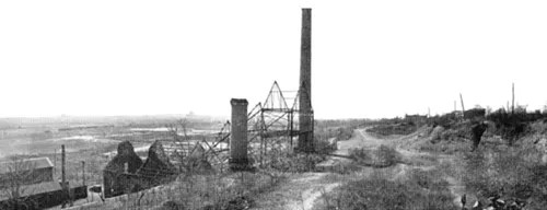 Photo courtesy New Jersey State Geologist After the company failed in 1903, the Schuyler complex became derelict. This is how it looked by the 1940s.