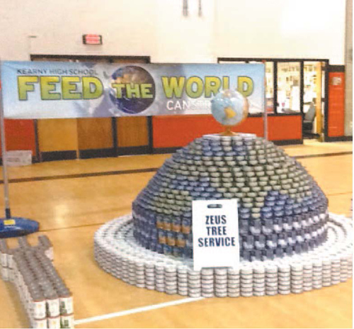 Observer file photo A sample Canstruction project that Kearny High School students created.