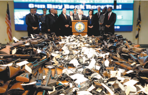 This scene was repeated at state-sponsored gun buy-backs in Essex, Hudson and Bergen Counties.