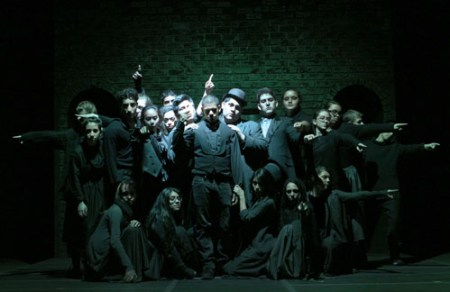"Photo courtesy Matt Boryszewski The Harrison High School Drama Club cast of ""Sweeney Todd."""