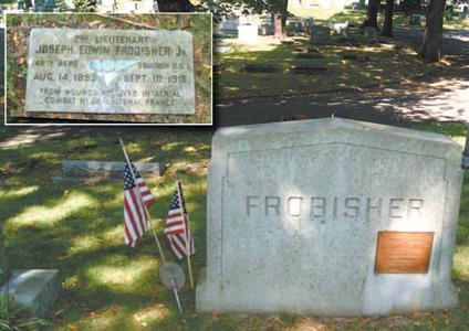 Photos by Karen Zautyk Lt. Frobisher's grave in Kearny's Arlington Cemetery