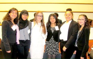 Photo courtesy BHS NJLEEP participants, from l., are Melissa Martinez, Safi yyah Rahim, Sydney Gomez, Domenica Guaman, Alisa Lopez and Paula Sanchez.