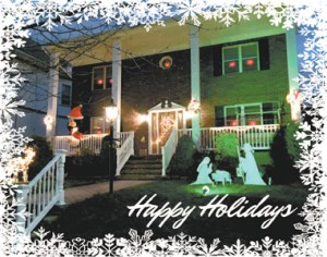 Photo by Patricia DaSilva A holiday home decorated in Kearny.