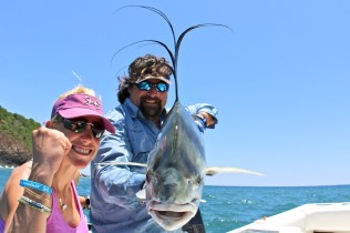Moe and Carter with Roosterfish