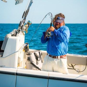 Carter Andrews reeling in grouper