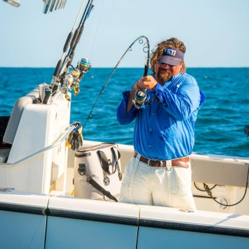 Carter Andrews reeling in grouper