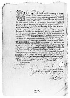 An indenture from 1683