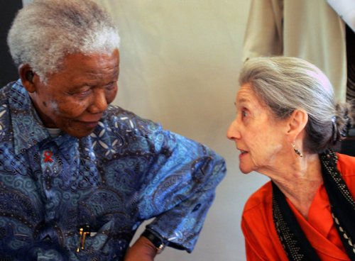 Nadine Gordimer with Nelson Mandela