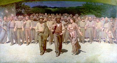"""Giuseppe Pellizza (1868 – 1907), """"The Fourth Estate"""" (oil)"""