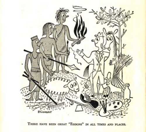 An illustration from Ruth Benedict's The Races of Mankind (1946)