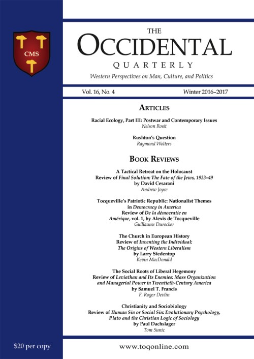 The Occidental Quarterly - Winter 2016-2017