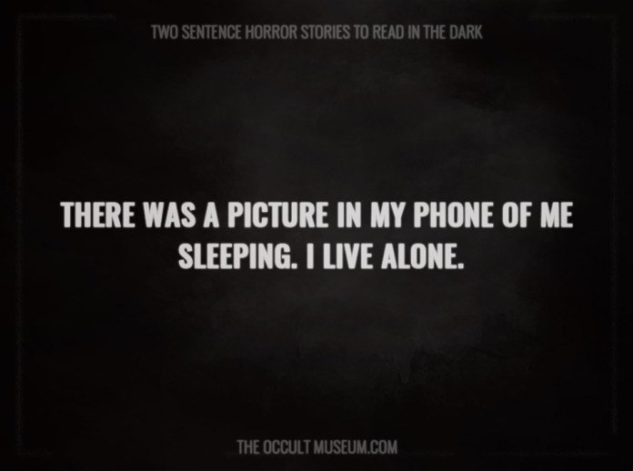 30 scary two sentence horror stories to read in the dark. Black Bedroom Furniture Sets. Home Design Ideas