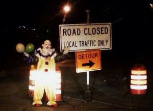 A creepy clown has been scaring people in Staten Island, New York