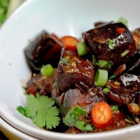 Aubergine Stir Fry - spicy aubergine with soy and chilli (aubergine recipes)