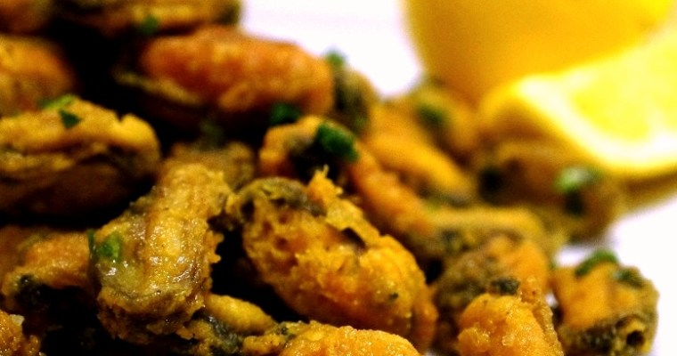Fried Mussels with a hint of spice! Fried Mussels Recipe