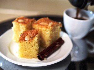 Galombrama - greek semolina cake by Theo Michaels