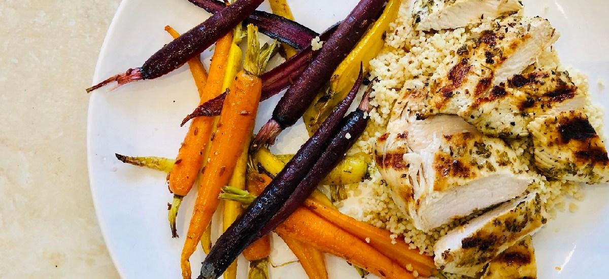 Rainbow Carrots with Garlic Lemon Chicken – David Lloyd Clubs