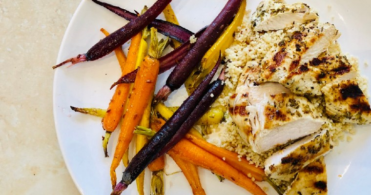 Rainbow Carrots with Garlic Lemon Chicken – David Lloyd Clubs