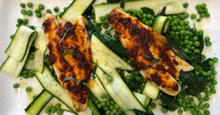 Harissa Seabass and Super Greens – David Lloyd Clubs Video Recipe