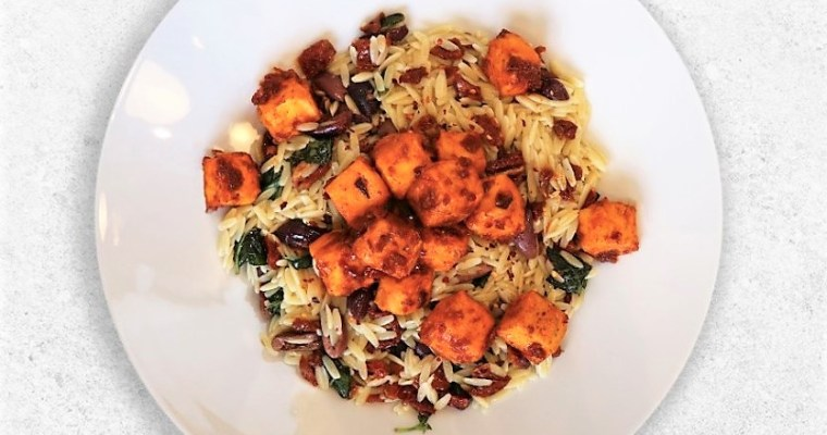 Harissa Tofu with Orzo Pasta (vegan recipe) – David Lloyd Clubs Video