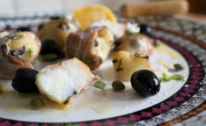Monkfish Kebabs wrapped in Pancetta by Theo Michaels