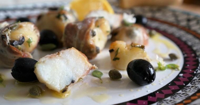 Monkfish Kebabs with Pancetta | Monkfish Recipe
