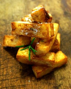 Twice Cooked Chips with rosemary salt by Theo